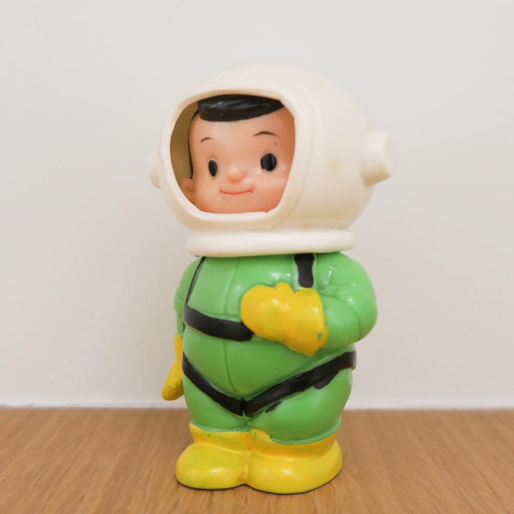 "Space Boy (宇宙坊や ) Coin Bank 1960~ Kokumin Bank こくぎん 国民銀行 3.9"" Tall (100mm)"