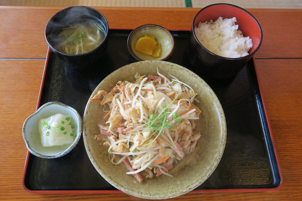 Tatami-ishi Rest House - Fu Chanpuru (Stir Fry)