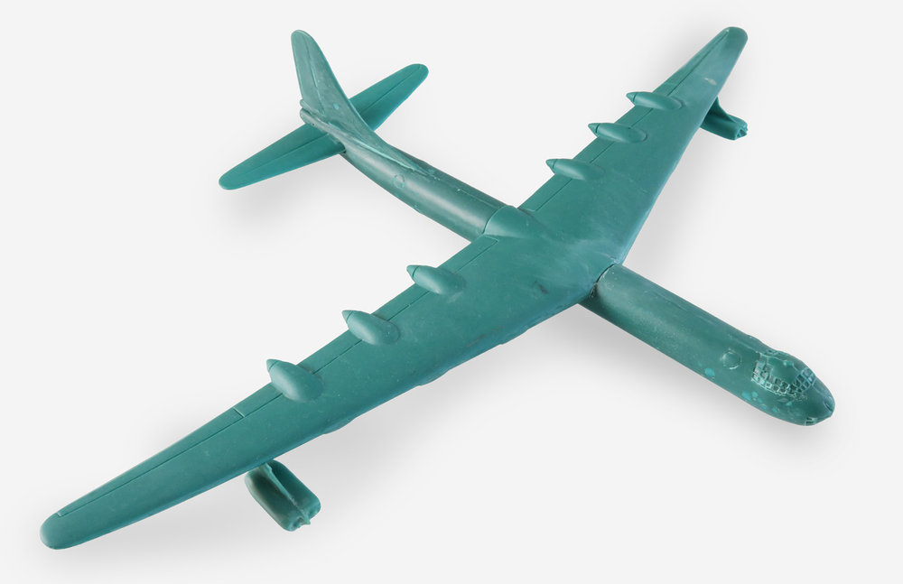 "Convair B-36 Peacemaker Scale: 1:200 Manufacturer: HMB Models (USA) Material: Epoxy Resin Wingspan: 13.5"" (342.9mm) Year: 1970-80's (?)"