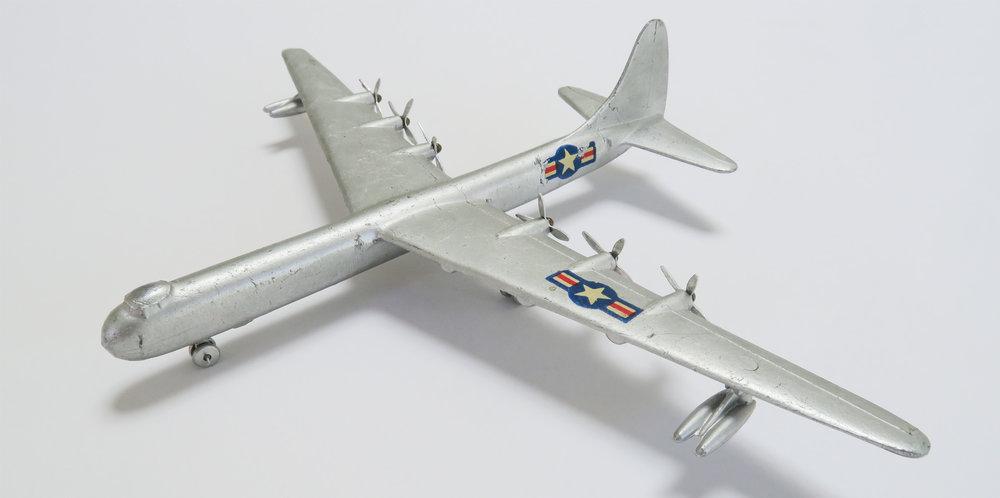 "Mercury 416 Aeroplano Convair RB 36 E   Manufacturer: Mercury, Italy Material: Diecast Aluminium Wingspan: 9.25"" (235mm) Year: 1960's"