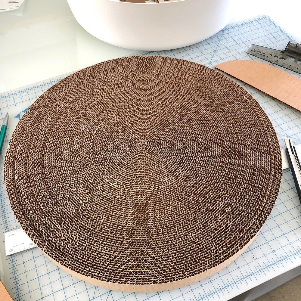 Cardboard coil.