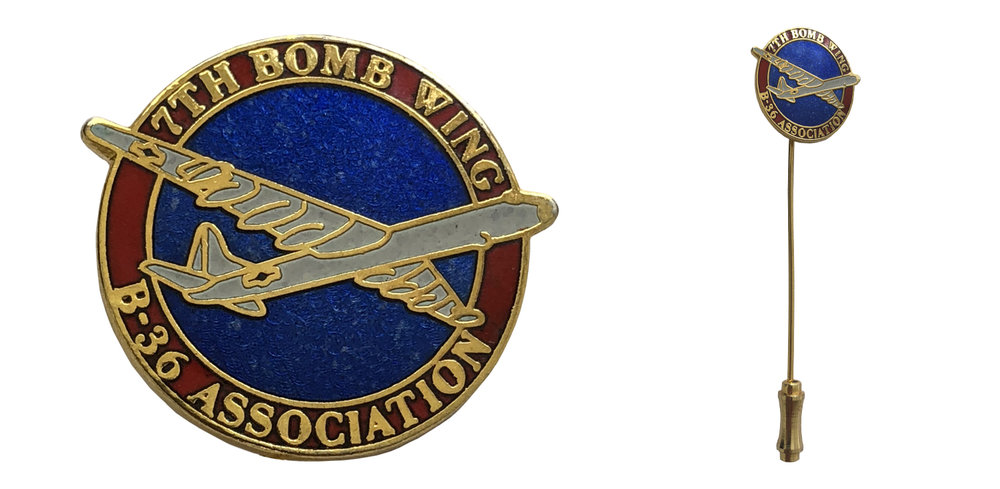 7th Bomb Wing B-36 Peacemaker Veterans Association Stick Pin