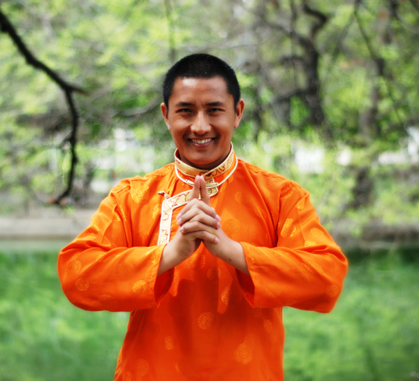 Tulku Lobsang, Farrah's teacher and the pioneer of bringing Lu Jong from Tibet to the West.