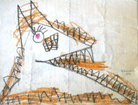 Add your children's drawings to my inspirations. Learn more here This wonderful creature was drawn by Jeremy.