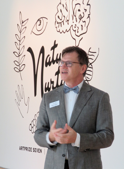 Ron Platt, the curator at the Grand Rapids Art Museum started with the theme of Nature/Nurture.