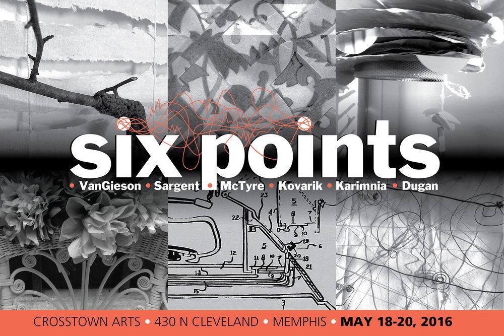 Six Points poster, Paula Kovarik