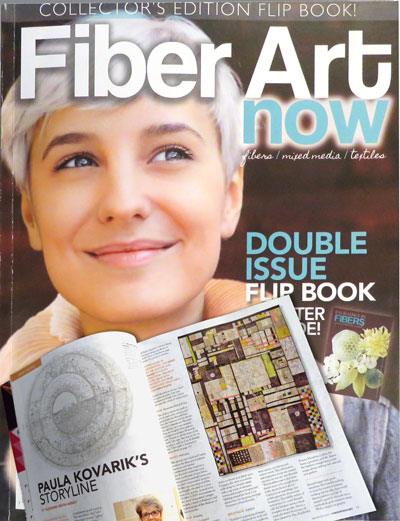 I am profiled in the exquisite double issue of  Fiber Art Now  magazine. It's a beautiful edition that reveals this year's winners of the Excellence in Fibers Exhibition.