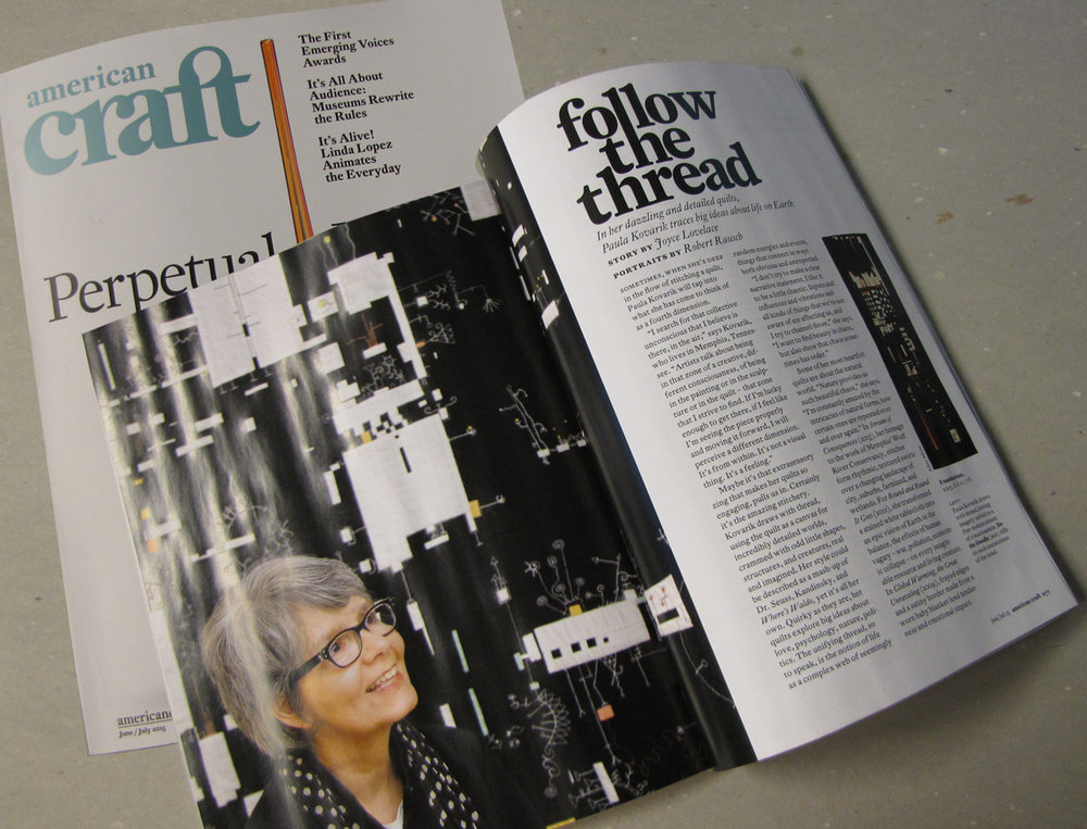 I am profiled in the Summer 2015 issue of American Craft magazine. A huge honor.