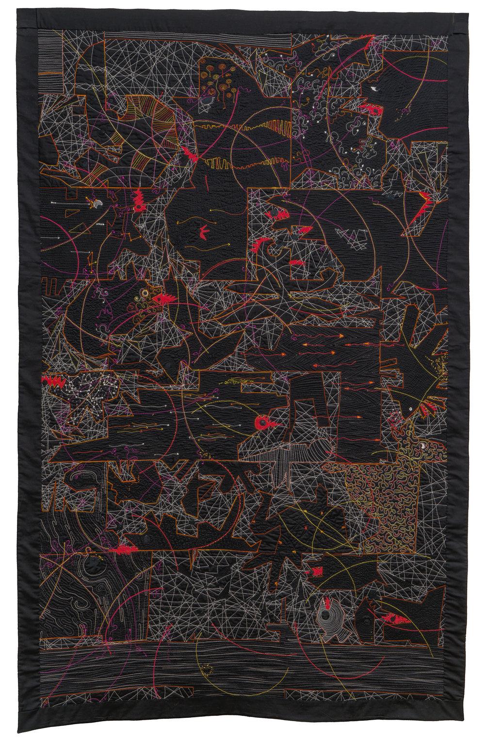 "Disruptors , 70.5"" x 45"", Paula Kovarik"