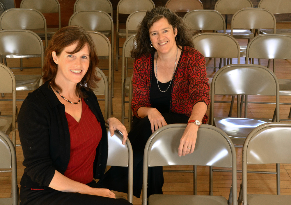 Slow Democracy  coauthors Woden Teachout (left) and Susan Clark (right).