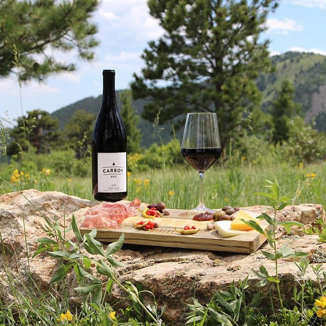 Wine, Colorado mountains, charcuterie board... Could photo shoots get any better?  #carboywinery #photography #branding #design #denver #boulder #coloradomade #denvercreatives