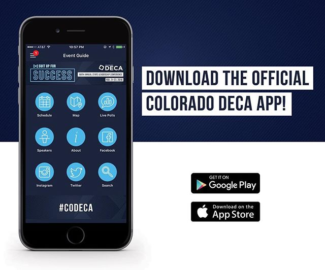 Looking back at our app design for the 2016 @coloradodeca annual conference.  #design #appdesign #branding #logodesign #conferencebranding #coloradodeca #madebyrac #denvercreatives