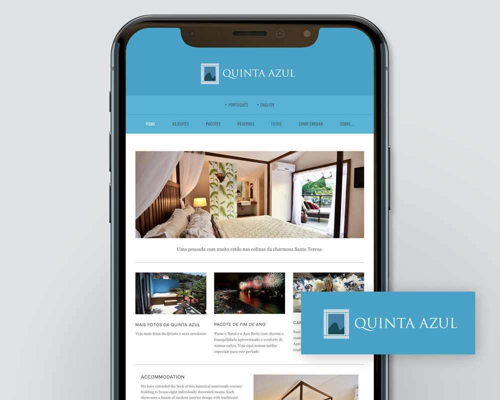 Website and branding for Hotel in Rio de Janeiro