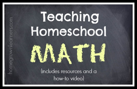 teaching homeschool math