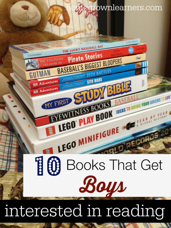 10 Books That Get Boys Interested in Reading — Homegrown Learners