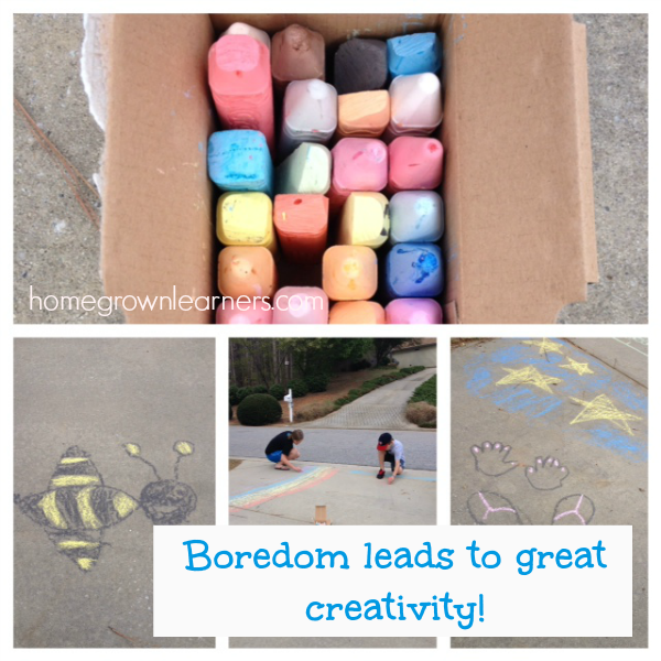 Boredom leads to great creativity - boredom busters for kids