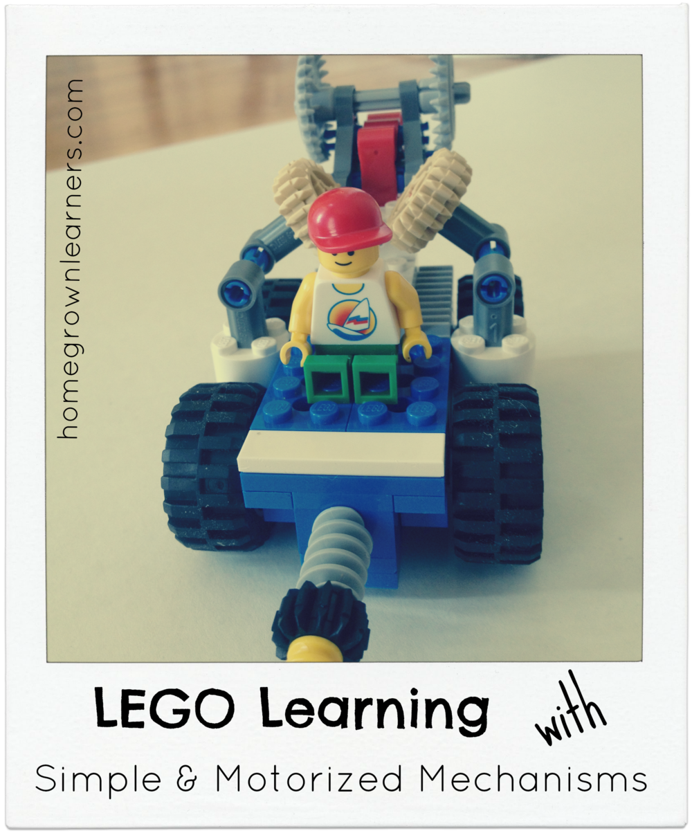 Lego Learning With Simple Motorized Mechanisms Homegrown Learners