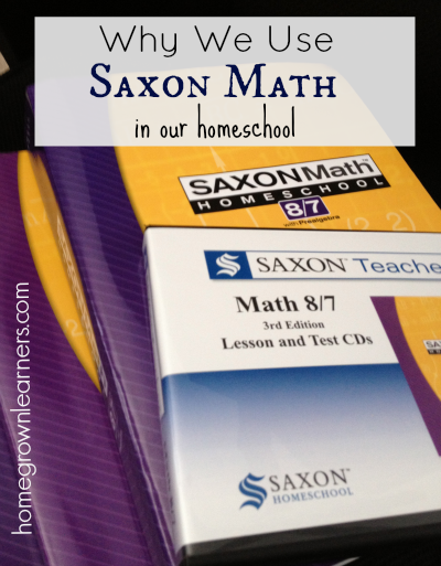 why we use Saxon math