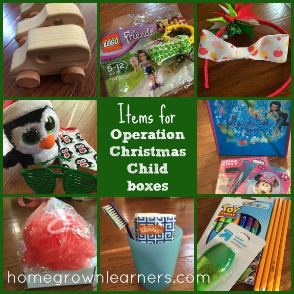 Christmas Child Boxes.20 Items To Pack In Operation Christmas Child Boxes