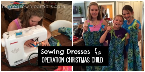 Hand Sewn Dresses for Operation Christmas Child Boxes