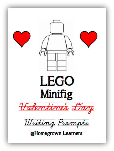 LEGO Minifig Valentine Free Writing Prompts from Homegrown Learners
