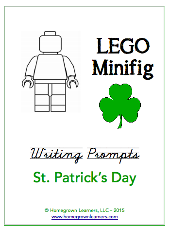 Free LEGO® Minifig St. Patrick's Day Writing Prompts