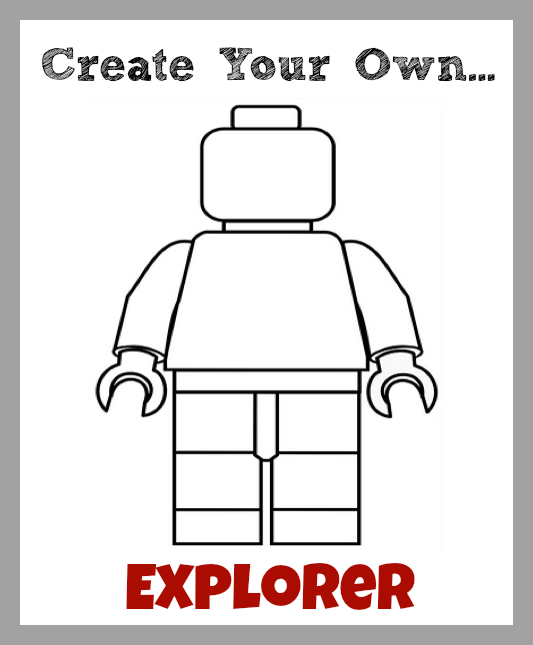 Bright image with lego minifigure printable