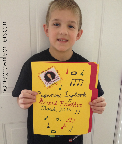 Zeezok Music Appreciation Paganini Lapbook