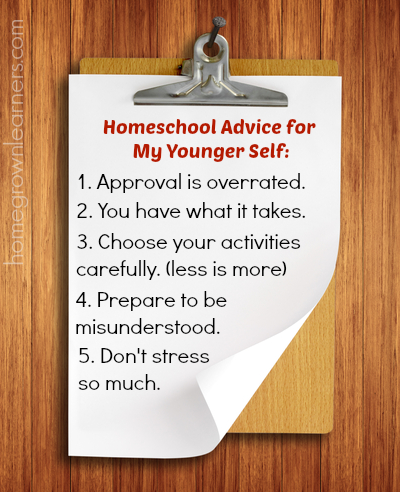 Homeschooling Advice for My Younger Self