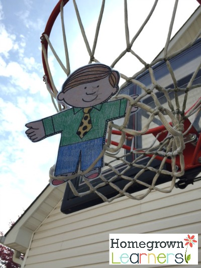 Flat Stanley Plays Basketball