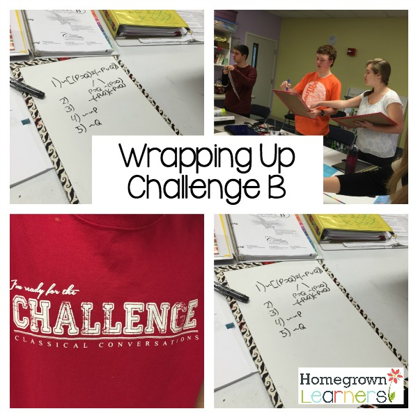 Wrapping Up The Year in Challenge B
