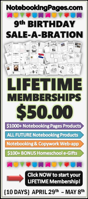 Notebooking Page Lifetime Membership Sale