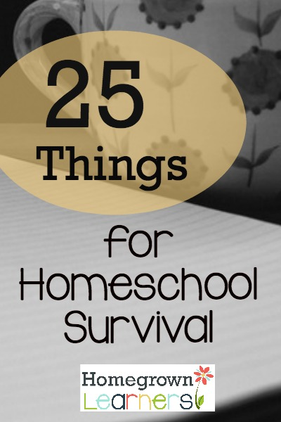 25 Things for Homeschool Survival