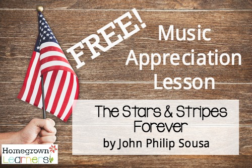 Free Music Appreciation Lesson - The Stars & Stripes Forever by John Philip Sousa: a 12 page SQUILT download