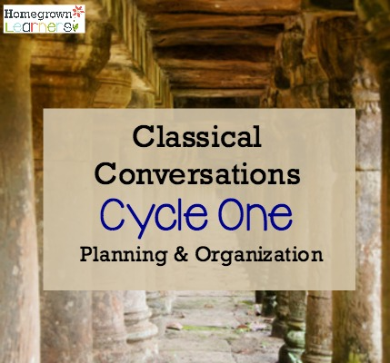 Planning & Organizing for Classical Conversations Cycle 1
