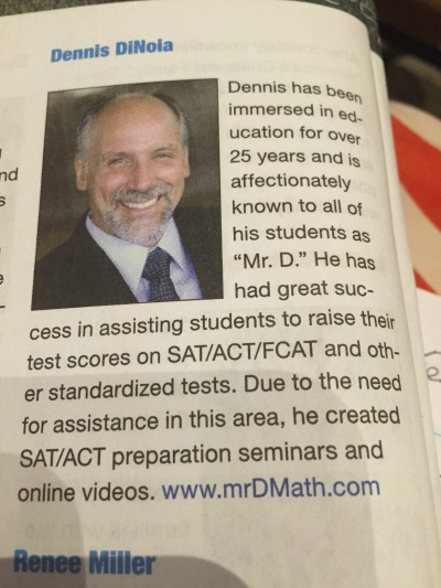 Dennis DiNoia biography - Mr. D Math