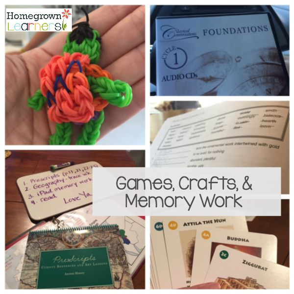 Games, Crafts & Memory Work - Count Your Homeschool Blessings