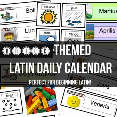 LEGO Themed Latin Daily Calendar