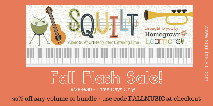 SQUILT Fall Flash Sale