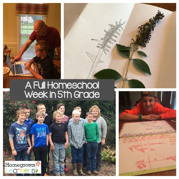 A Week in the Life of 5th Grade Homeschool