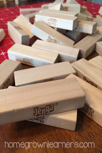 JENGA: simple memory work review game