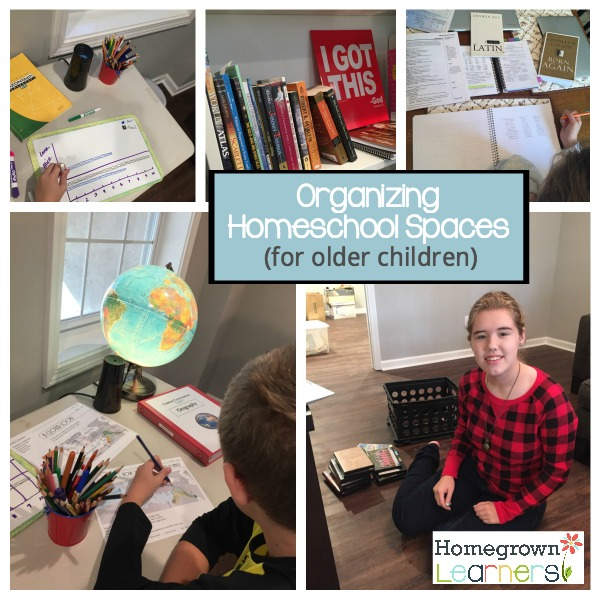 Organizing Homeschool Spaces