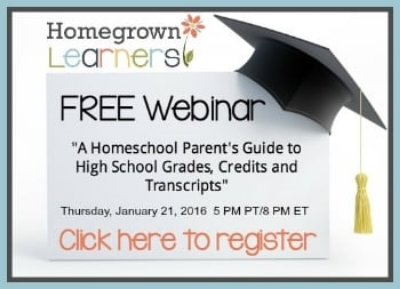 Free High School Homeschool Webinar
