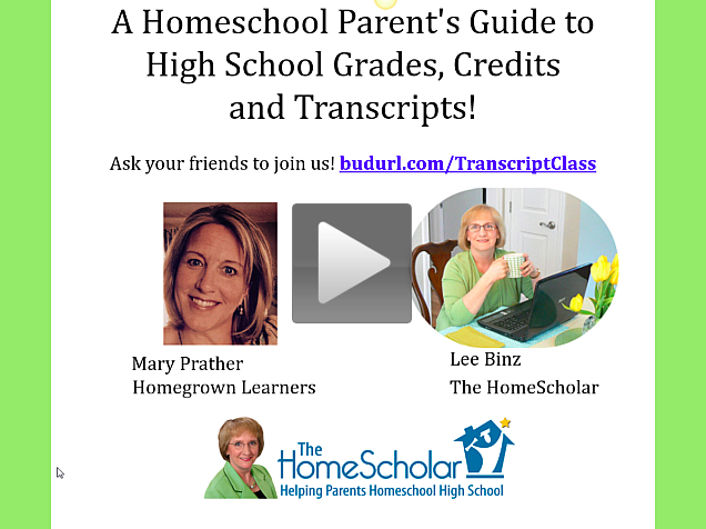 Homeschool High School Webinar