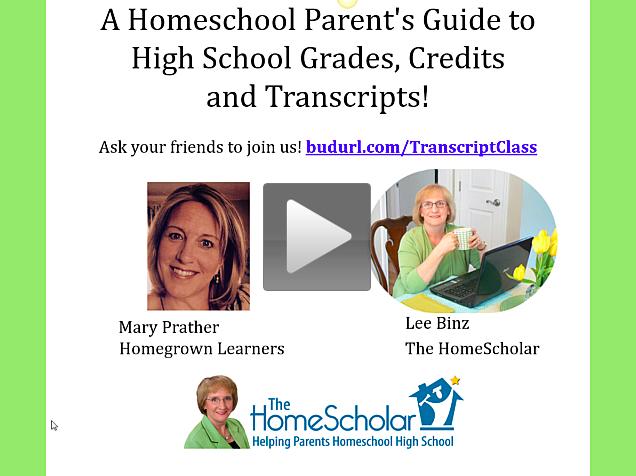 Homeschool High School Webinar