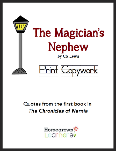 The Magician's Nephew Print Copywork