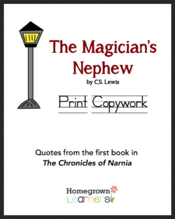 Free Print Copywork for The Magician's Nephew