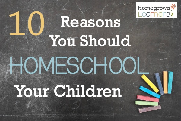 10 Reasons To Homeschool Your Children