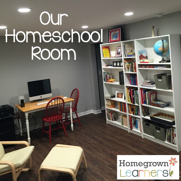 Our finished homeschool room