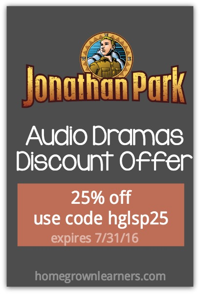Jonathan Park Audio Adventures Special Discount for Homegrown Learners Readers
